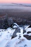 зима восхода солнца Стоковое фото RF