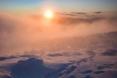 зима восхода солнца иллюстрация штока