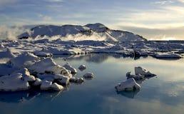 зима времени Исландии Стоковое Изображение