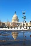 зима времени капитолия Стоковое Изображение