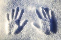 зима времени снежка следов ноги Стоковая Фотография RF