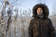 зима времени человека времени средняя Стоковые Фото