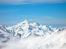 зима высоких гор стоковая фотография