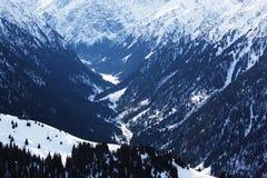 зима высокой горы Стоковая Фотография