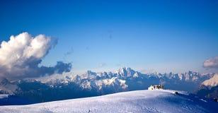 Зима в Беллуно Prealps солнечный день Стоковое Изображение RF