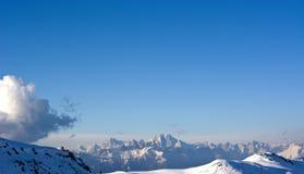Зима в Беллуно Prealps солнечный день Стоковые Фото
