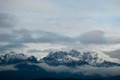 Зима в белых горах в Alpago, итальянке Беллуно Стоковая Фотография