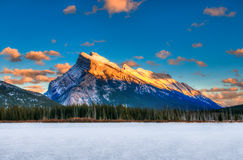Зима в горах Стоковое Фото