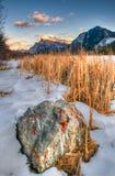 Зима в горах Стоковая Фотография