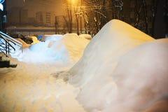 Зима в городе Стоковые Фотографии RF