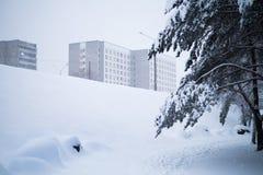 Зима в городе стоковая фотография