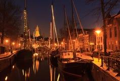Зима в Голландии Стоковые Фотографии RF