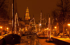 Зима в Голландии Стоковая Фотография RF