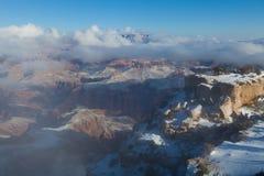 Зима в гранд-каньоне Стоковая Фотография