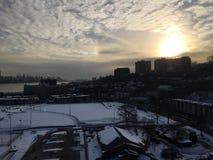 Зима в Гудзоне Стоковое Изображение