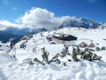 Зима в итальянских Альпах Стоковое Изображение RF