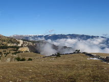 Зима в крымских горах Стоковые Фото