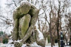 Зима в кладбище Kerepesi Стоковые Фотографии RF