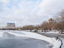 Зима в парке Стоковые Фото