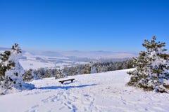 Зима в Сербии Zlatibor 2017 Стоковые Изображения