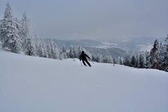 Зима в Сербии Zlatibor 2017 Стоковые Изображения RF