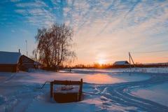 Зима в селе Стоковое Фото