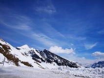 Зима в Швейцарии, горный вид в Швейцарии Стоковые Изображения