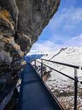 Зима в Швейцарии, горный вид в Швейцарии Стоковое Изображение RF