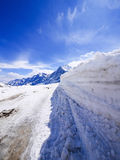 Зима в Швейцарии, горный вид в Швейцарии Стоковое фото RF