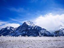 Зима в Швейцарии, горный вид в Швейцарии Стоковые Фотографии RF