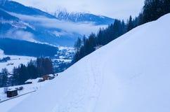 Зима в alps Стоковое Изображение RF