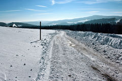 Зима в Breitnau в черном лесе, Германии Стоковое Изображение