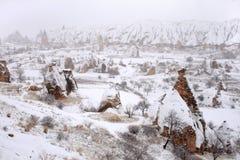 Зима в Cappadocia стоковое изображение