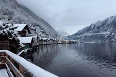 Зима в Hallstatt Стоковое Изображение RF