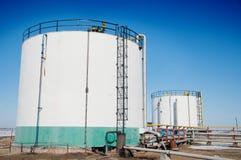 зима газовой промышленности Стоковое фото RF