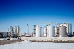 зима газовой промышленности Стоковая Фотография