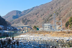 Зима гидроэлектрическая стоковые фото