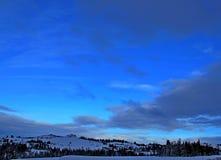 зима голубого неба Стоковое Изображение RF