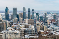 зима горизонта montreal Стоковая Фотография
