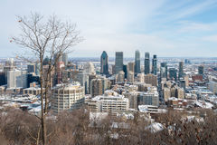 зима горизонта montreal Стоковая Фотография RF