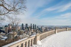 зима горизонта montreal Стоковое фото RF