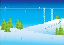 зима горного вида Стоковые Изображения