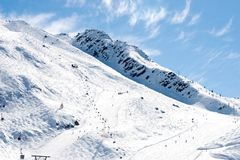 зима горного вида chamonix Франции Стоковые Фото
