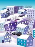 зима городка Стоковые Изображения RF