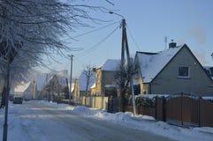 Зима городка стоковые изображения