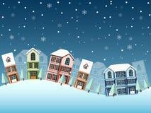 Зима городского пейзажа Стоковая Фотография
