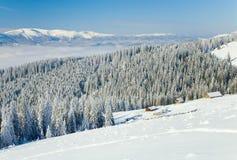 зима горы ландшафта Стоковая Фотография