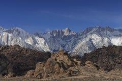 Зима Горы Уитни Стоковое Изображение RF