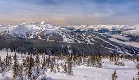 Зима горы Whistler стоковые изображения rf