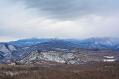 зима гор ландшафта Болгарии bansko Стоковое Фото